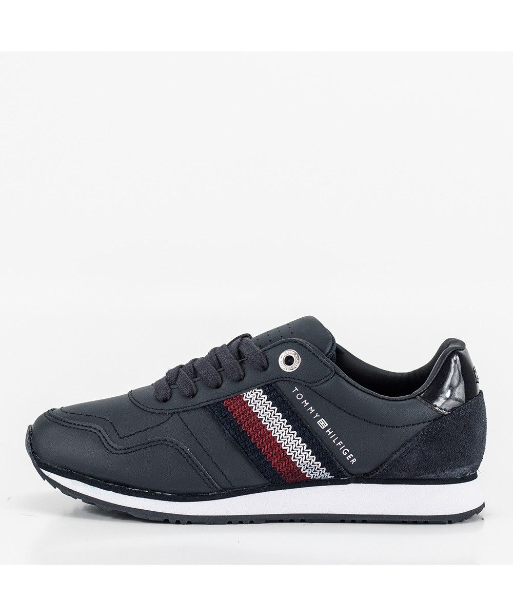 TOMMY LEATHER LOW RUNNER